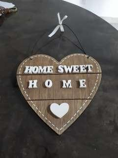 Wooden Home Sweet Home Wall Deco