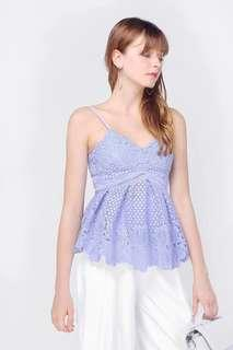 Fayth-Ashlyn Crochet Babydoll Top