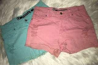2x Size L Denim Shorts