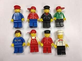 八九十年代絕版樂高人仔。價錢是每隻計。經典各行業人仔lego minifigure