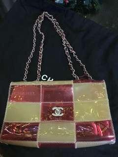 Chanel Vinyl Naked Patchwork Chain Flap Bag
