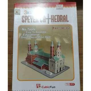 (Clearance Sale) MISB CubicFun 3D Puzzle Speyer Cathedral