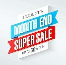 MONTH END SUPERSALE UP TO 50% OFF