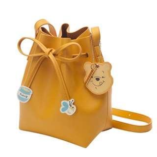 Disney Winnie The Pooh Drawstring Cylinder Bag