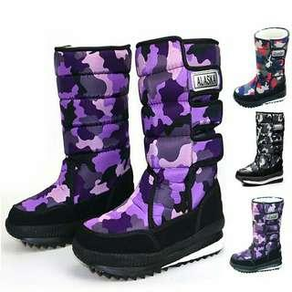 Winter plush camouflage boot