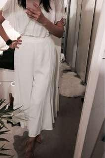 BNWT Sheike White Culottes serenity pants size 8
