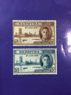 1946 Bermuda King George VI Postage & Revenue Mint Stamp Set