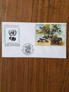 United Nations Endangered species FDC