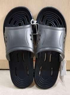 Sandal Slippers Cowok Miniso Original Black Size 41-42