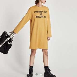ZARA text print dress