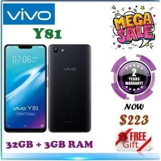 Vivo Y81 32GB + 3Gb Ram / 2 Year Vivo Warranty
