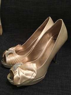 "DYOS 結婚鞋 婚禮婚宴高踭鞋 4.5""踭 size 39 Design Your Own Shoes Wedding Bridal High Heels Annual Dinner 公司周年晚宴"