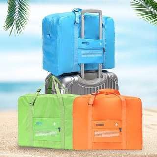 🚚 ✨現貨✨ B-04韓版 防水折疊收納行李袋 旅行袋  飛機包  可放拉桿行李袋 5款顏色