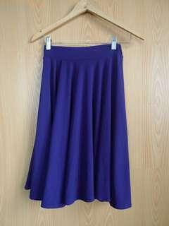 Large Purple Skater Skirt