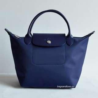Longchamp Planetes Short Handle Medium Size