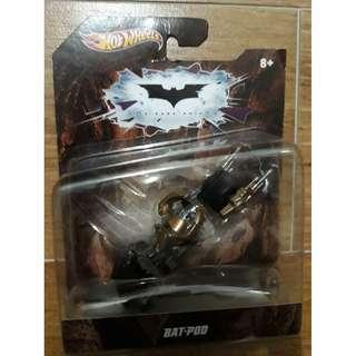 (Clearance Sale) MOSC Mattel Hot Wheels Batman Bat-pod Dark Knight DC Comics