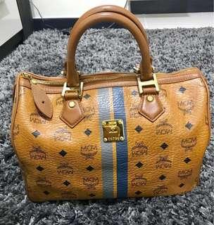 💯Authentic MCM cognac Speedy Bag