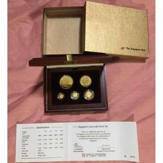 🚚 Rare Inaugural 1990 Singapore Lion Series Gold Coin Set (2k Mintage World-wide)