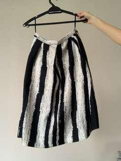 Black and White Stripe Skirt dd collective