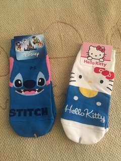 {BNWT}Hello kitty/Stich short Socks