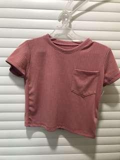 Blush Pink Cropped Top