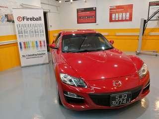 Mazda RX-8 Fireball Devilblood Ceramic Coating