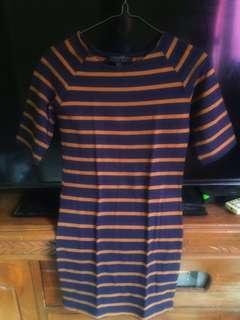 Mini Dress Stripe Forever 21 +