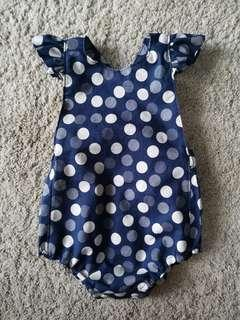 Handmade Polka Dot Astoria Playsuit/ Romper