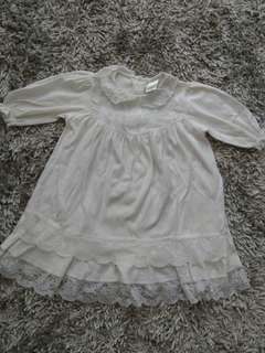 Baby white dress
