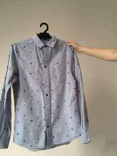 H&M Long Sleeve Christmas Shirt