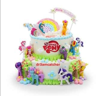 My Little Pony cake toppers - 12 pieces