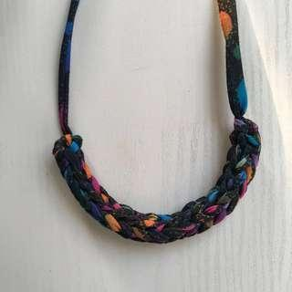 Space out yarn necklace