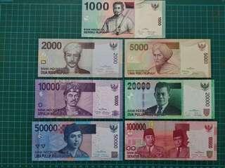 Indonesia previous full set UNC