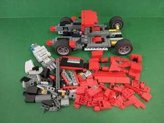 Lego Creator 10248 Ferrari racer 樂高積木法拉利跑車 不完整的 只係作散件買