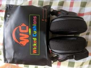 Wicked Cushions velour ear pads, fits most oval shaped headphones