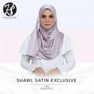 SHAWL SATIN EXCLUSIVE - HAYDA SCARF