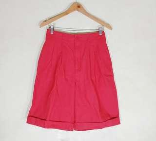 Red/ 7Pink Korean Style High Waist Trousers Culottes