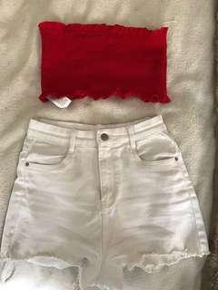 Supre top and shorts