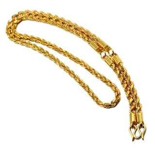916 Gold Customised 3 Hook Amulet Chain