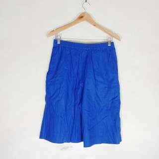 High Waist Emeral Blue Shorts Culottes