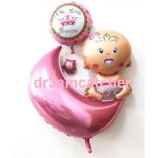 Full Mth Balloon set for Baby Girl or Boy
