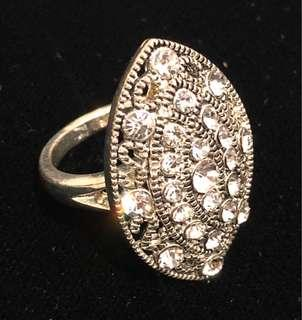 BRAND NEW Silver Ring with Crystals