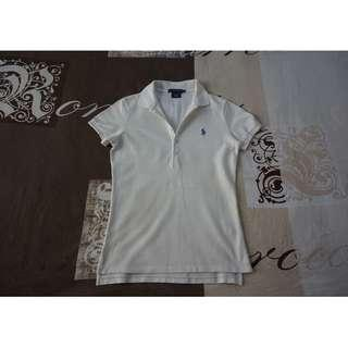 Ralph Lauren Women's Skinny-Fit Stretch Cream Polo Shirt Size Small RRP $125.00