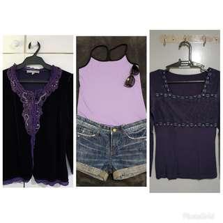 SALE!!! Purple tops bundle