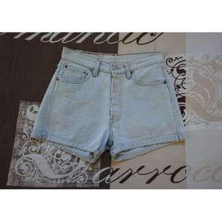 Levi's Vintage 501 Light Blue High-Waisted Denim Shorts Size 28