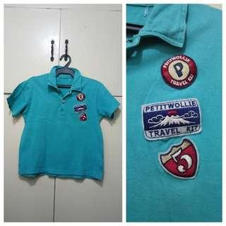 MA209 Petitwollie Polo Shirt for Boys - see pics for Measurements and flaw