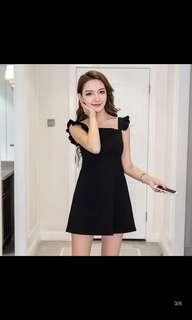 Ruffles Sleeve Mini Dress