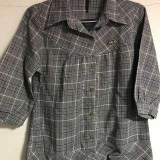 Checkered 1/2 Sleeve Top