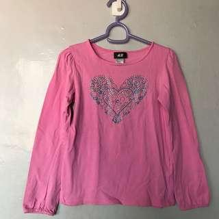 H&m pink top with jewels