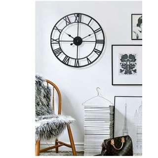 American Home Wrought Iron Clock | Metal Wall Clock | Retro